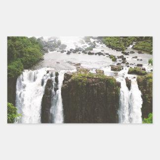 Iguazu Falls Rectangular Sticker