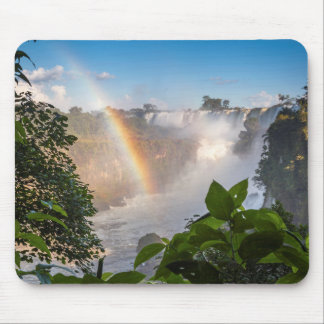 Iguazú Waterfalls With Rainbow, Argentina Mouse Mat