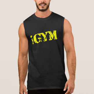 iGym Men's Gold Ultra Sleeveless T-Shirt