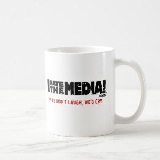 IHateTheMedia.com - If we didn't laugh, we'd cry Basic White Mug