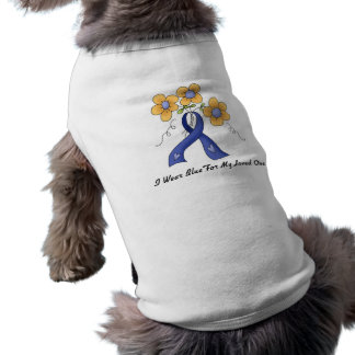 Ii Wear Blue For My Loved One Sleeveless Dog Shirt