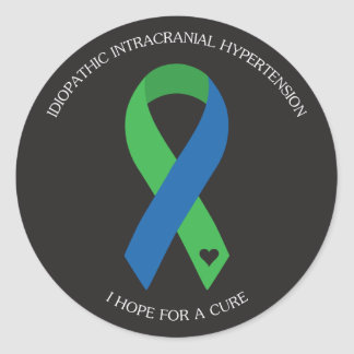 IIH Ribbon - I hope for a cure Round Sticker