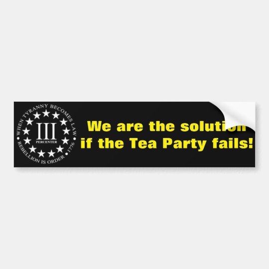 III% BUMPER STICKER