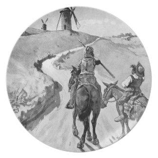 III Centenario-Don Quixote by José Jiménez Aranda Party Plates