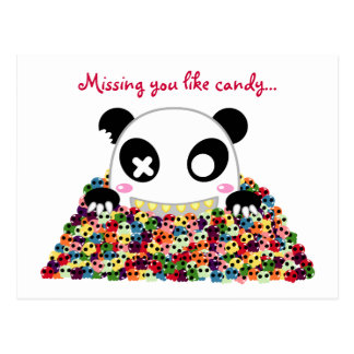 "Ijimekko Panda ""Missing You"" Postcard"