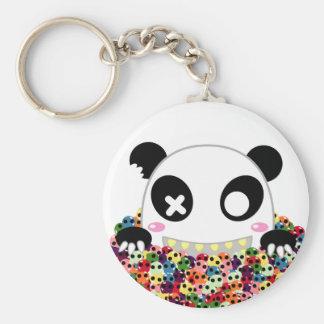 Ijimekko the Panda - Sugar Skulls Basic Round Button Key Ring