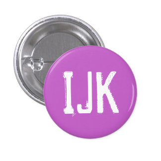 'IJK' Alphabet Collectible (#10) 3 Cm Round Badge
