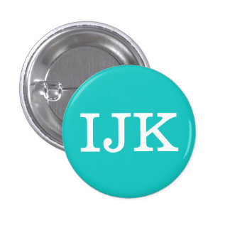'IJK' Alphabet Collectible (#9) 3 Cm Round Badge