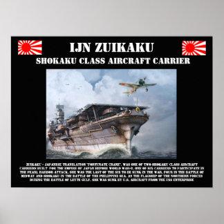 IJN Zuikiaku Aircraft Carrier Poster