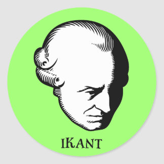 iKant Round Sticker