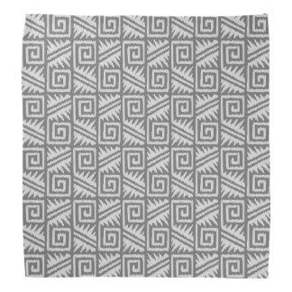 Ikat Aztec Pattern - Shades of Grey / Gray Bandana