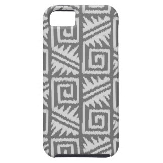 Ikat Aztec Pattern - Shades of Grey / Gray iPhone 5 Case