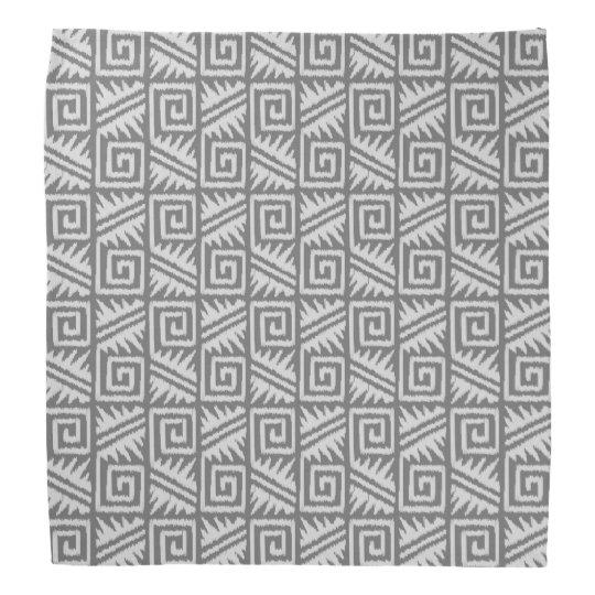Ikat Aztec Pattern - Shades of Grey /