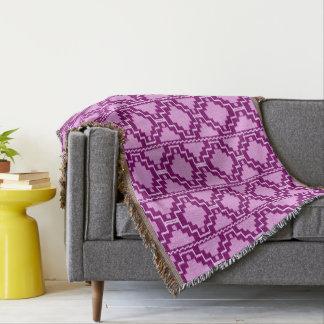 Ikat Aztec Tribal - Amethyst Purple and Violet Throw Blanket