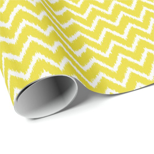 Ikat Chevrons - Mustard yellow and white Wrapping