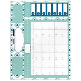 Ikat Dry Erase Family Calendar Dry Erase Board