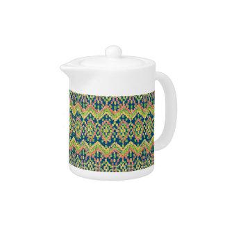 Ikat Ethnic Moorish Pattern on Blue
