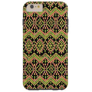 Ikat Ethnic Pattern on Black to Customize Tough iPhone 6 Plus Case