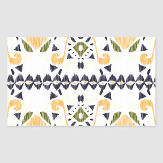 Ikat Line Rectangle Stickers