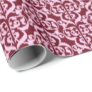 Ikat Moorish Damask - burgundy and pink. Gift Wrap Paper