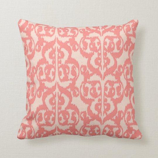 Ikat Moorish Damask - peach and coral pink
