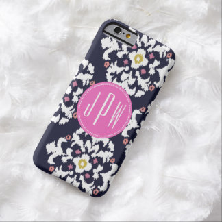 Ikat & Pink Monogram Barely There iPhone 6 Case