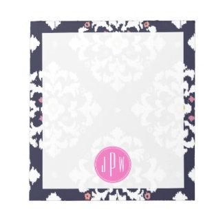 Ikat & Pink Monogram Note Pad