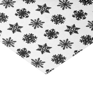 Ikat Snowflakes - White and black Tissue Paper