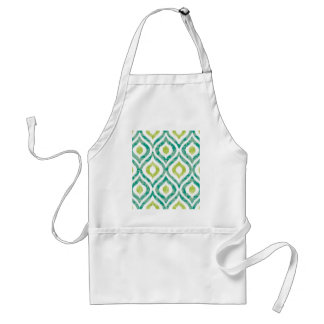 Ikat,tribal,green,yellow,white,trendy,pattern,cute Standard Apron