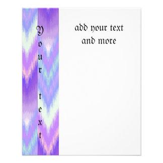 """Ikat,tribal,pattern,purple,lavender,pink,white,fun 4.5"""" X 5.6"""" Flyer"""