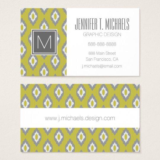 Ikat vintage pattern business card