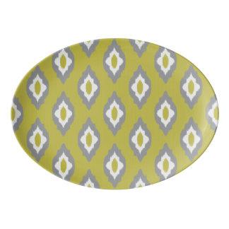 Ikat vintage pattern porcelain serving platter