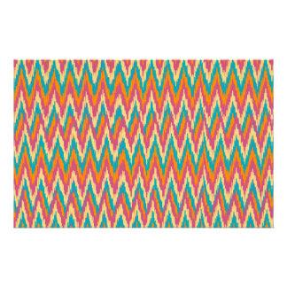 iKat Zigzag Design Spice Colors Stationery