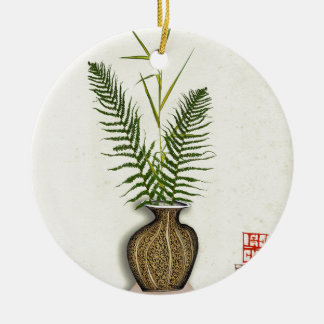 ikebana 14 by tony fernandes christmas ornament
