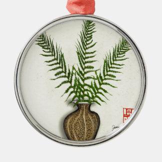 ikebana 18 by tony fernandes christmas ornament