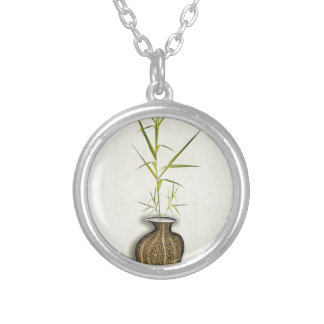 ikebana 19 by tony fernandes silver plated necklace