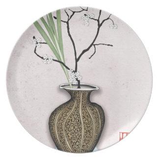Ikebana 1 by tony fernandes plate