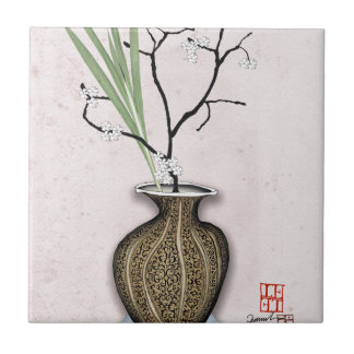 Ikebana 1 by tony fernandes tile