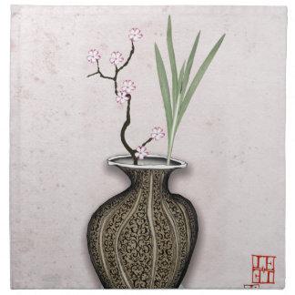 Ikebana 2 by tony fernandes napkin