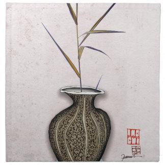 Ikebana 3 by tony fernandes napkin