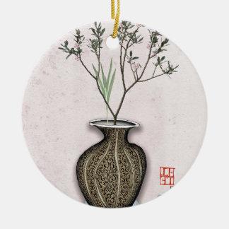 Ikebana 4 by tony fernandes christmas ornament
