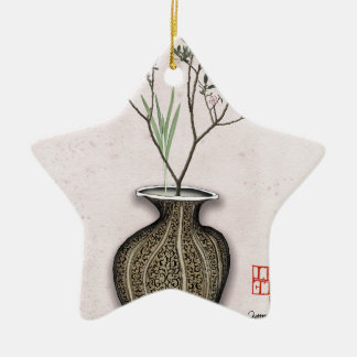 Ikebana 4 by tony fernandes christmas ornament