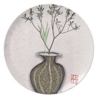 Ikebana 4 by tony fernandes plate