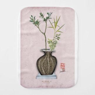 Ikebana 6 by tony fernandes burp cloth