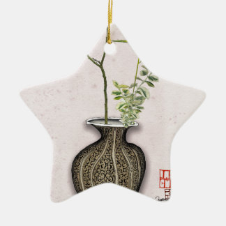 Ikebana 6 by tony fernandes christmas ornament