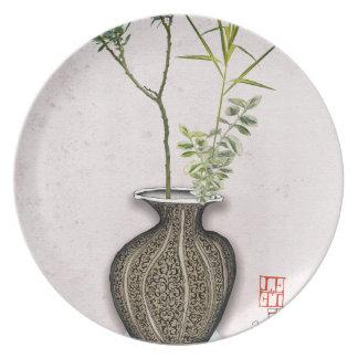 Ikebana 6 by tony fernandes plate