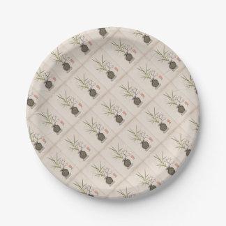 ikebana 7 by tony fernandes paper plate