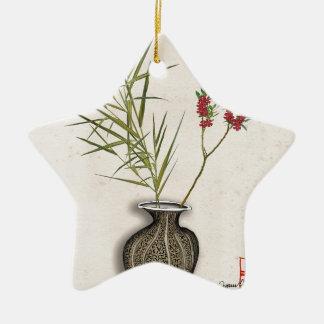 ikebana 8 by tony fernandes christmas ornament
