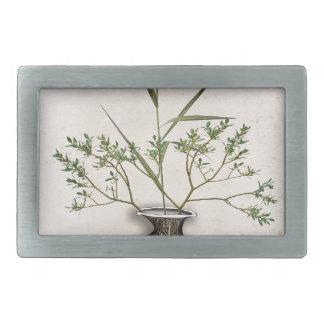 ikebana 9 by tony fernandes rectangular belt buckle