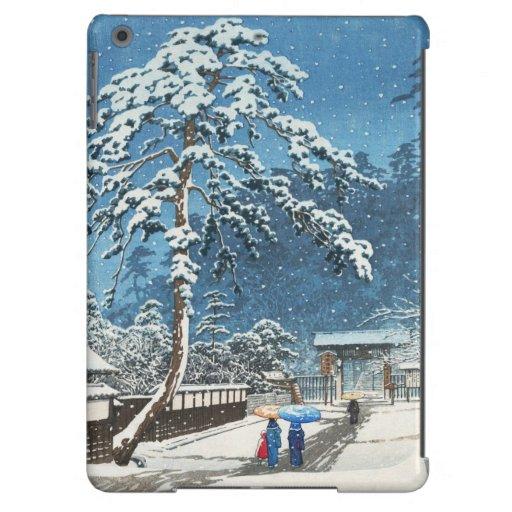 Ikegami Honmonji Temple Kawase Hasui shin hanga Cover For iPad Air